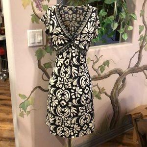 Apt 9, tapered, black/white dress, size M